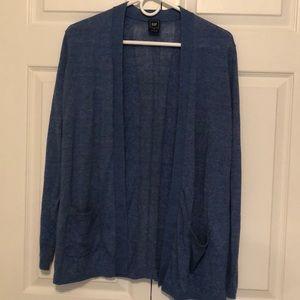 Blue Gap Open Cardigan